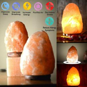 Himalayan Salt Lamp Crystal Pink Rock Salt Natural Healing Ionising All Sizes ✅