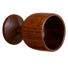 Natural Wooden Goblet Red Wine Cup Beer Mug Party Groomsmen 7cm Brown