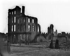 New 8x10 Civil War Photo: Women in Mourning Dress Among Richmond Ruins