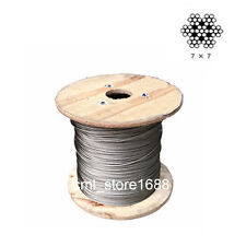 """1/8""""mm 100% Marine Grade 316Stainless Steel Cable Wire Rope (5metres)"""