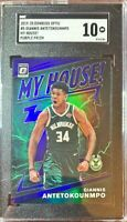 2019 Donruss Optic My House! PURPLE PRIZM Giannis Antetokounmpo SGC 10 GM