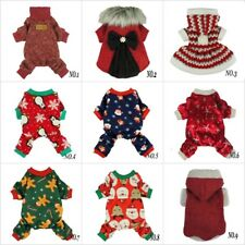 Fitwarm Xmas Dog Dress Christmas Coat Pet Clothes Winter Sweater Santa Pajamas