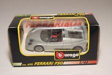 V 1:43 BBURAGO BURAGO 4172 FERRARI F50 F 50 METALLIC GREY MINT BOXED