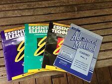 lot - 4 CLARINET essential elements band method technique -advanced method books