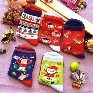 CHIC DIARY 5 Pairs Women Girls Christmas Holiday Stocking Socks With Gift Box