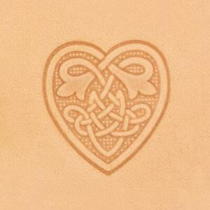 Ivan 3D Leather Stamp - Celtic Heart (8611-00)