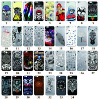 Patterned Cell Phone Cases For iPhone 6 6S Plus 4 5 5s 5c SE Silicone Skin Cover