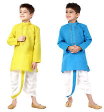 Boys  Dhoti Kurta Set  Indian Weding  Party Wear Dress For Child-1-14 Yrs