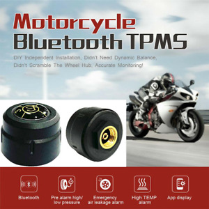 TPMS Bluetooth 4.0 Tire Pressure Monitor System 2 External Sensor For Motorcycle