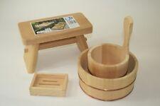 New Special Bath Set Bathtub Chair Soap base cypress obtusa Hinoki JAPAN F/S
