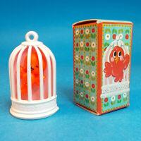 Vtg 1975 Avon BOBBIN ROBIN PIN Trembler Baby Bird Brooch Pendant Bird Cage NOS