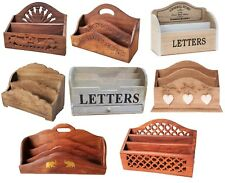Vintage Style Wooden Letter Racks Post Card Holder Storage Rack Decoration