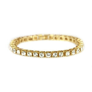 """Men's 5mm Tennis Bracelet Blings Lab Diamonds Iced Out Luxury 8"""" to 9"""" Inch"""