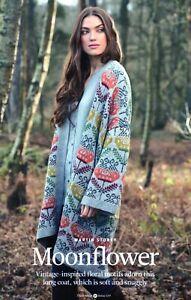 "~ Rowan Knitting Pattern For Lady's Stunning Floral Motif Coat ~ 32"" ~ 50"""
