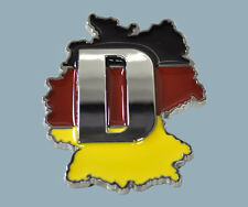 GERMANY Flag Chrome Emblem Badge - GERMAN Flag - Country Outline