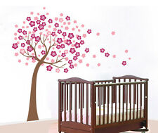 Giant Pink Cherry Blossom Flowers Tree Wall Stickers Art Mural Nursery Wallpaper