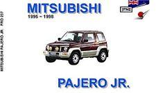 Mitsubishi Pajero Junior 1995-97 Owners Handbook by JPNZ International Ltd