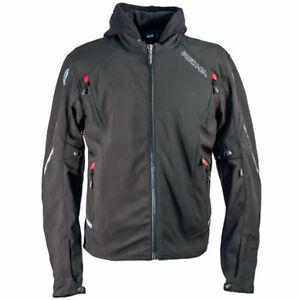 Richa Ranger Waterproof Textile Hoody Motorcycle Motorbike Jacket - Black RRP179