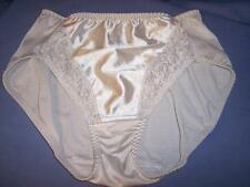 "VTG ""PLAYTEX"" WHITE SHINY NYLON/SPANDEX HI-CUT BRIEFS/PANTIES LINGERIE sz: XL"