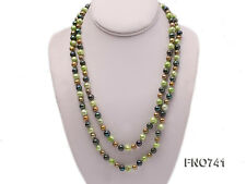"""Beautiful 6-8 mm Multi-color Round Freshwater Pearl Necklace 45"""""""