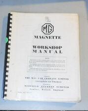 BMC MG Magnette ZA & ZB Workshop Manual AKD573.  1/1957