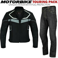 Men's Motorbike Motorcycle Jacket Waterproof Textile Biker CE Armoured Cordura