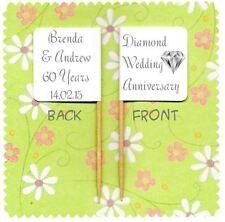 20 nozze di diamante personalizzata 60TH ANNIVERSARY Cup Cake Bandiera Topper Decorazione