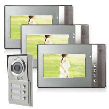 Mehrfamilienhaus Video Türsprechanlage Monitor 7 Zoll Display Cam IR Nachtsicht
