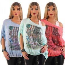 Fahrradshorts in Größe 44 Damen-T-Shirts mit Rundhals-Ausschnitt aus Viskose
