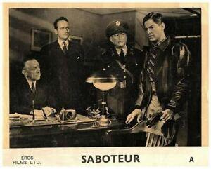 Saboteur Original Lobby Card Robert Cummings Hardie Albright Hitchcock Classic