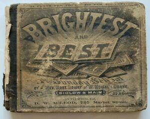 1875 Brightest and Best, Robert Lowry, W. Howard Doane, Sunday School RARE