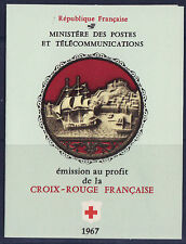 timbres France carnet croix rouge  1967 **