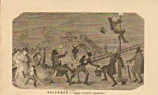 george cruikshank print 1841 : november - sees unable weather !