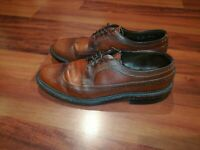 Walk Over Mens LongWing Wingtip Oxford Dress Brogue Shoes Size 10 Made In USA