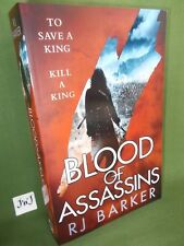 R J BARKER BLOOD OF ASSASSINS FIRST UK PAPERBACK EDITION NEW AND UNREAD