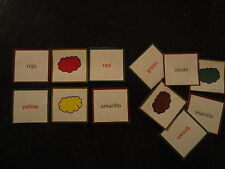 Teaching Resources - Spanish -  Colours - Matching Cards Game