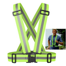 Reflective Vest Harness High Visibility Running Walking Cycling Safety Security
