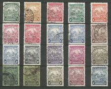 BARBADOS 1938  KGVI  F.Used   Set of 19+SG237   Wmk.MSCA   SG248-256a   Cat £45