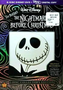 THE NIGHTMARE BEFORE CHRISTMAS, 2 DVD DISC COLLECTOR'S ED EXCELLENT / MINT COND