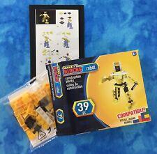 Make-It Blocks, Yellow Robot 39 Pc. Fits All Leading Brands, Age 6+, Nib