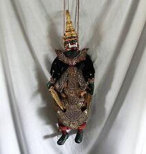 "Vintage Indonesian Thai Burmese HAND MADE MONKEY GOD MARIONETTE WOOD PUPPET 30"""