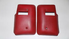 77 CHEVY MALIBU OEM RED FRONT SEAT BELT SEATBELT COVERS FACTORY SET