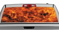 Truck Rear Window Decal Graphic [Blazen Skulls] 20x65in DC38809