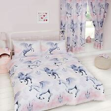 STARDUST UNICORN DOUBLE DUVET COVER SET NEW BEDDING GIRLS KIDS