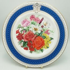 Royal Worcester Celebration Bouquet Queen 60th Birthday Decorative Plate