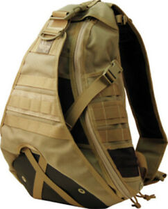 Maxpedition Monsoon Gearslinger Khaki 0410K Large size single shoulder pack with