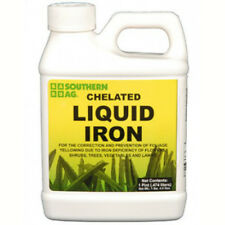Chelated Liquid Iron 5% For Flowers Shrubs Trees Vegetables Lawns Turf Grass 1Pt
