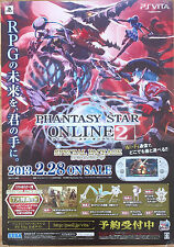 Phantasy Star Online 2 RARE PS Vita 51.5 cm X 73 Japanese Cartel Promo #1