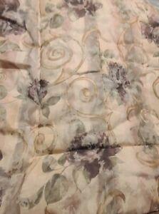 2pc Set Croscill Chambord Reversible Twin Comforter Purple Roses Standard Sham