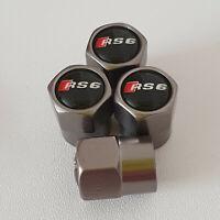 AUDI RS6 Gun Metal Grey Wheel Valve Dust caps all models S LINE S-line RS